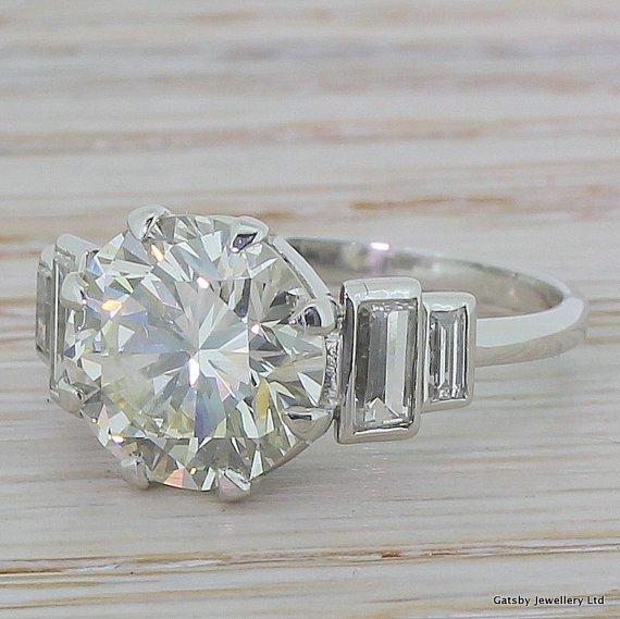 kutchinsky 400 carat transitional cut diamond engagement ring dated 1947