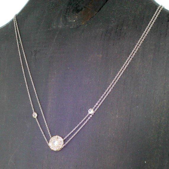 art deco 090 carat old cut diamond cluster necklace circa 1935