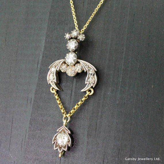 georgian 130 carat old cut diamond pendant circa 1810