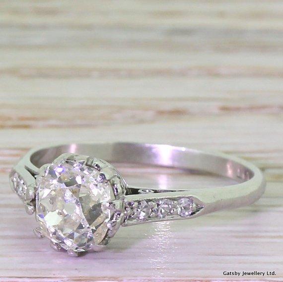 art deco 123 carat old cut diamond engagement ring circa 1930