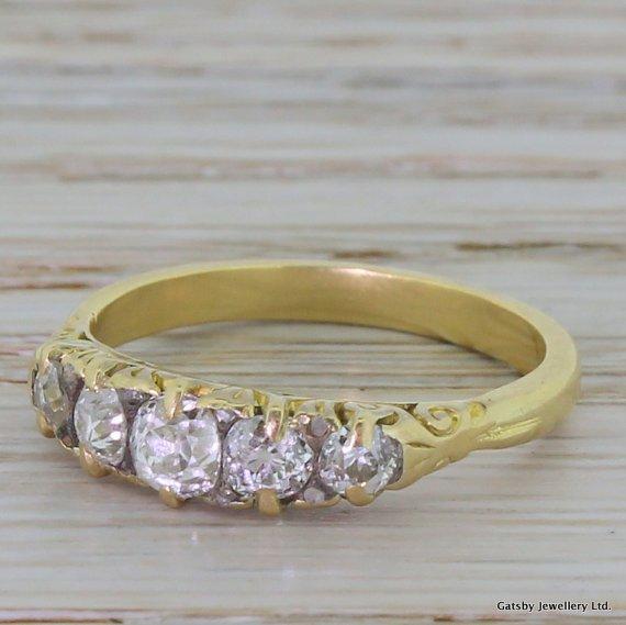 victorian 100 carat old cut diamond five stone ring circa 1900