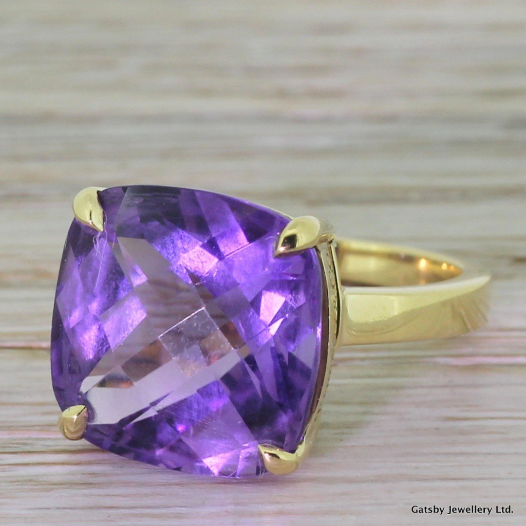 tiffany 038 co 850 carat amethyst cocktail sparklers ring
