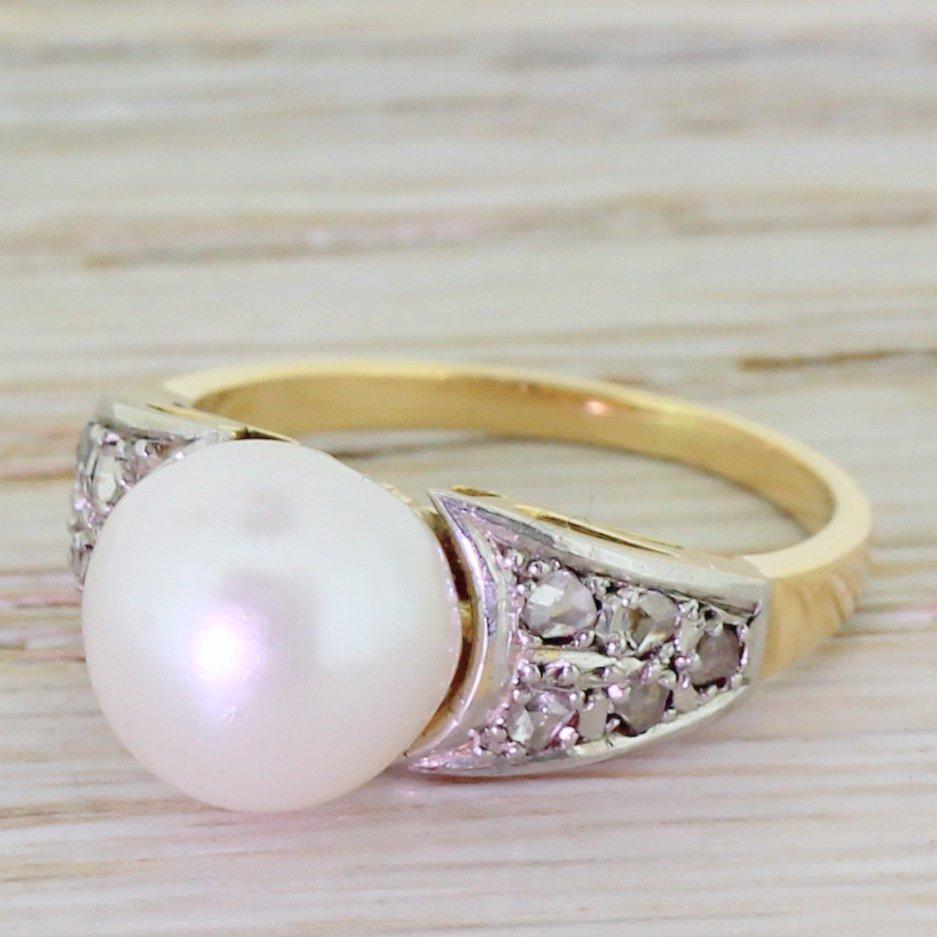 edwardian pearl 038 rose cut diamond solitaire ring circa 1905