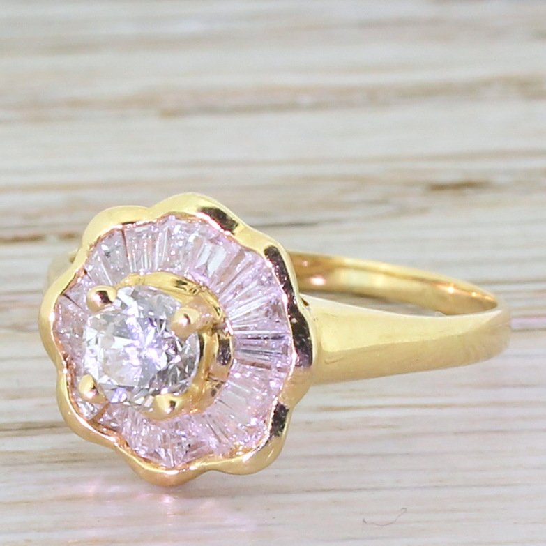 109 carat diamond ballerina ring circa 1980