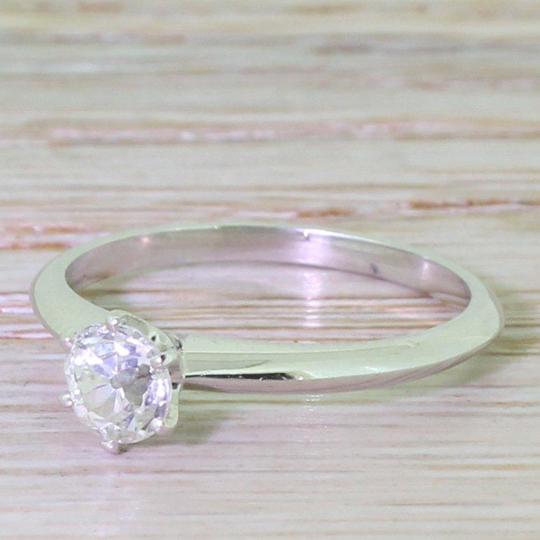 059 carat old cut diamond engagement ring platinum