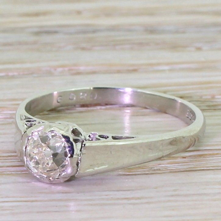 art deco 062 carat old cut diamond engagement ring circa 1930