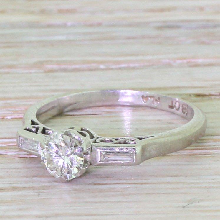 art deco 040 old european cut diamond engagement ring circa 1930