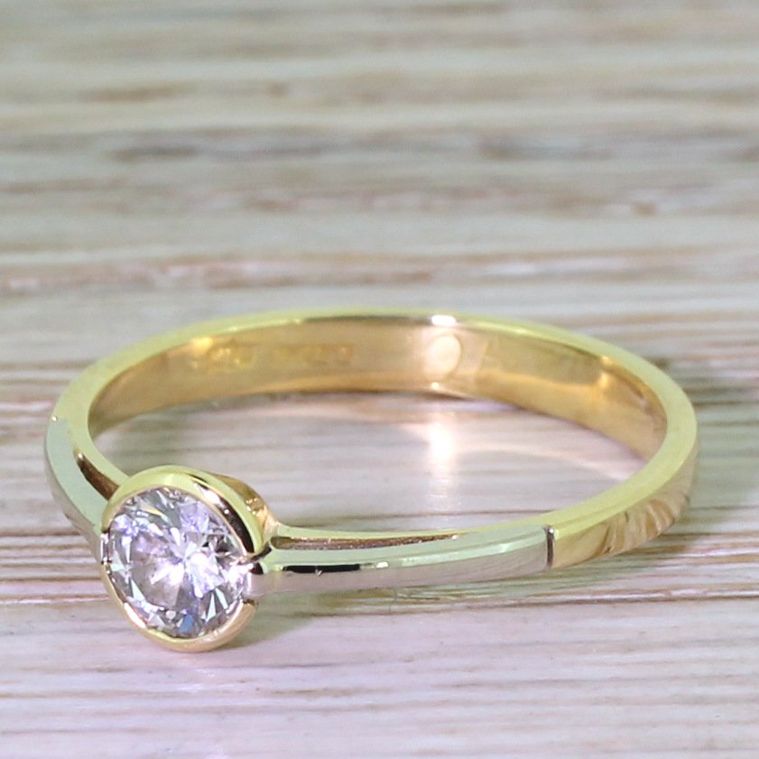 contemporary 040 carat round brilliant cut diamond engagement ring dated 1996