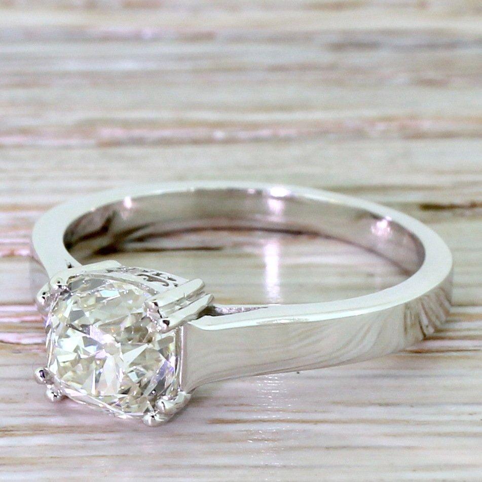 art deco 172 carat old cut diamond engagement ring french circa 1935