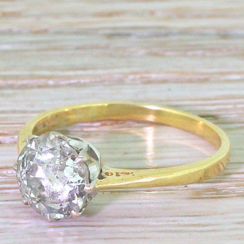 art deco 208 carat old cut diamond engagement ring circa 1925