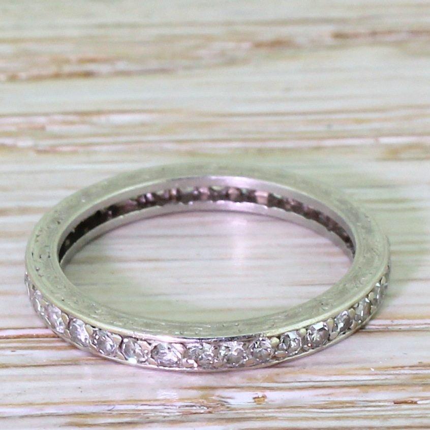 mid century 096 carat diamond full eternity ring french dated 1959