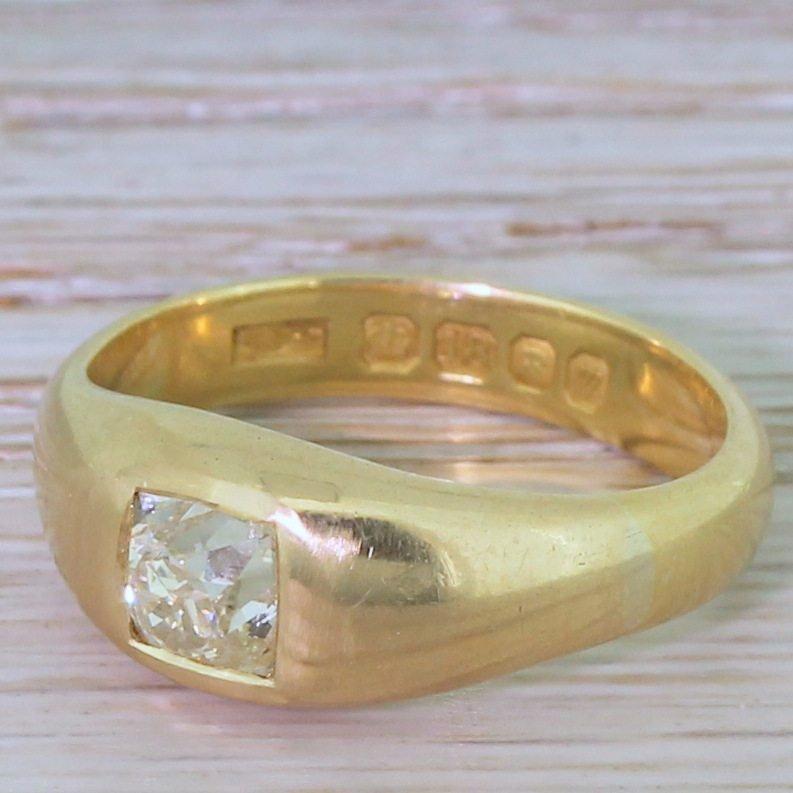 victorian 095 carat old cut diamond solitaire ring circa 1900