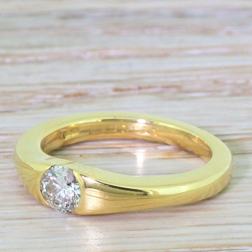boodles 032 carat round brilliant diamond solitaire ring 18k gold