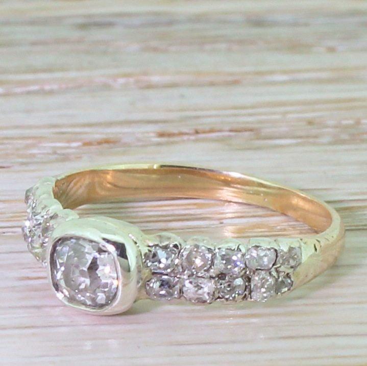victorian 160 carat old cut diamond ring circa 1880