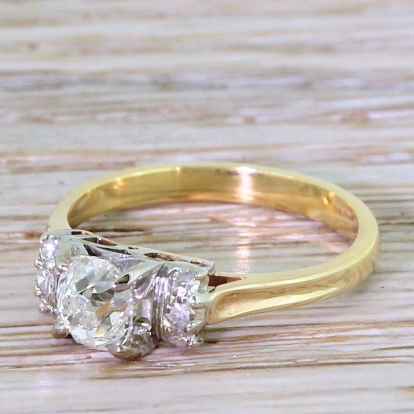 art deco 068 carat old cut diamond engagement ring circa 1935