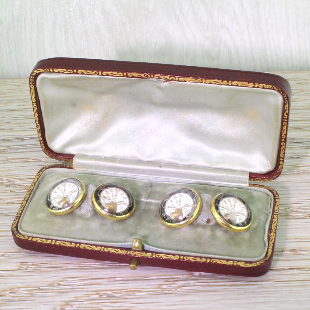 edwardian essex crystal 8220elks lodge8221 cufflinks boxed circa 1910