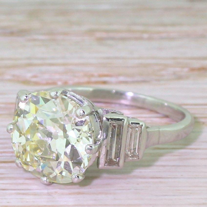 art deco 404 carat old cut diamond engagement ring circa 1930