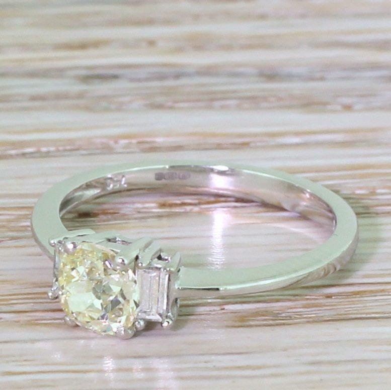 late 20th century 073 carat old cut diamond engagement ring scottish circa 1970