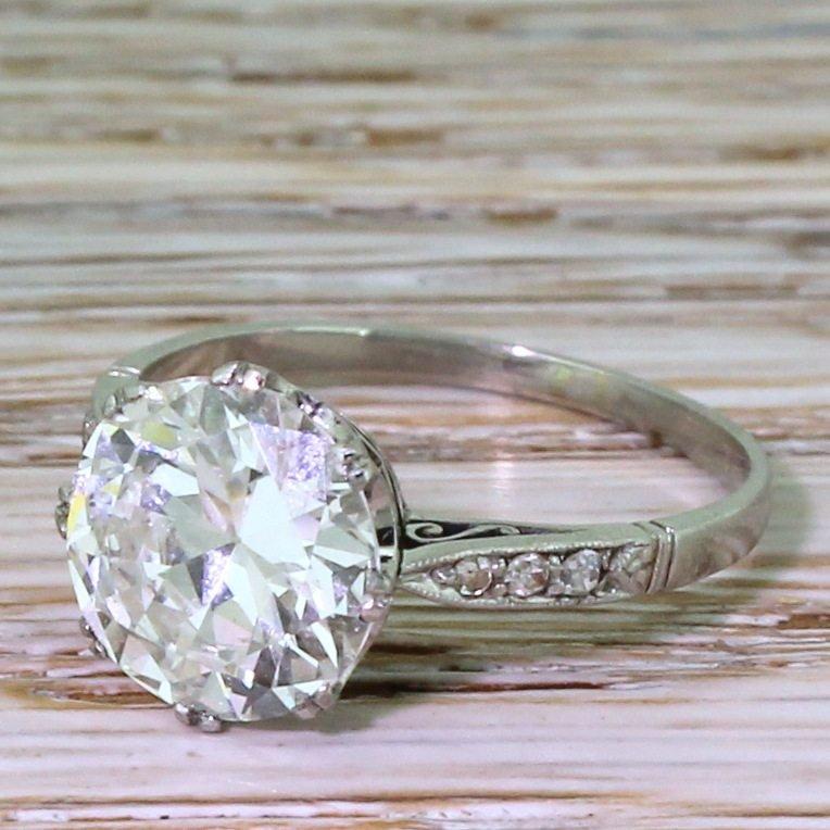 mappin 038 webb 254 carat old cut diamond ring with original box 038 receipt 1942
