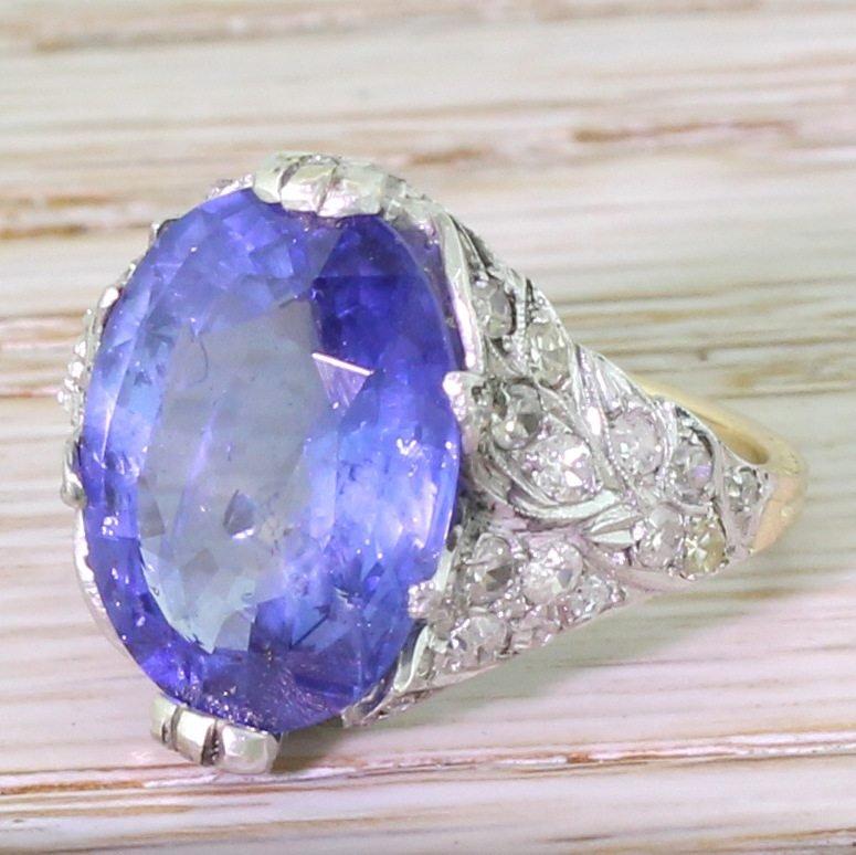 art deco 823 carat natural ceylon sapphire ring circa 1920