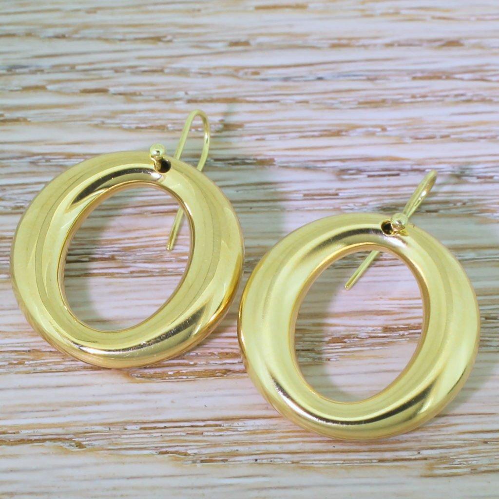 tiffany 038 co elsa peretti sevillana hoop earrings 18k gold