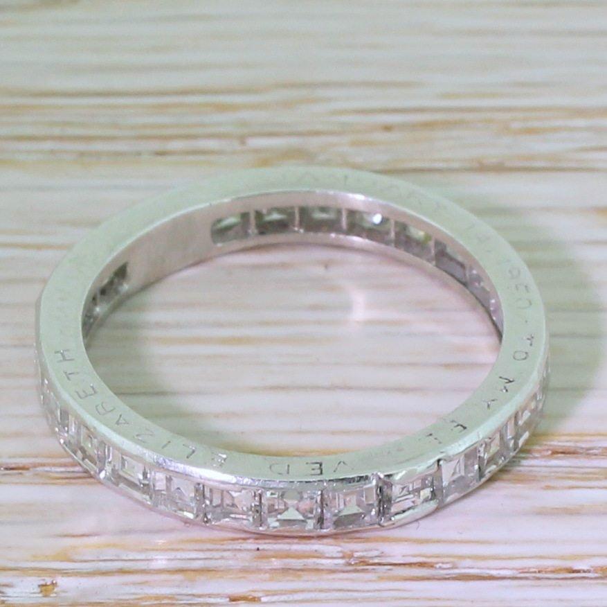 mid century 216 carat carr cut diamond eternity ring dated 1950
