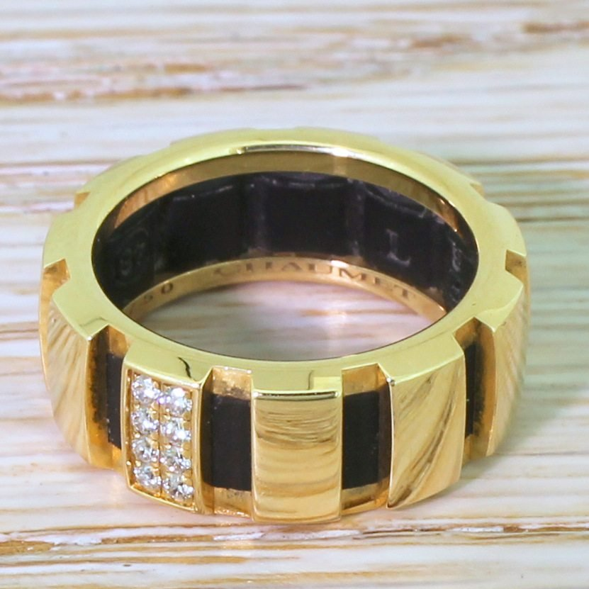 chaumet class one diamond band ring 18k gold