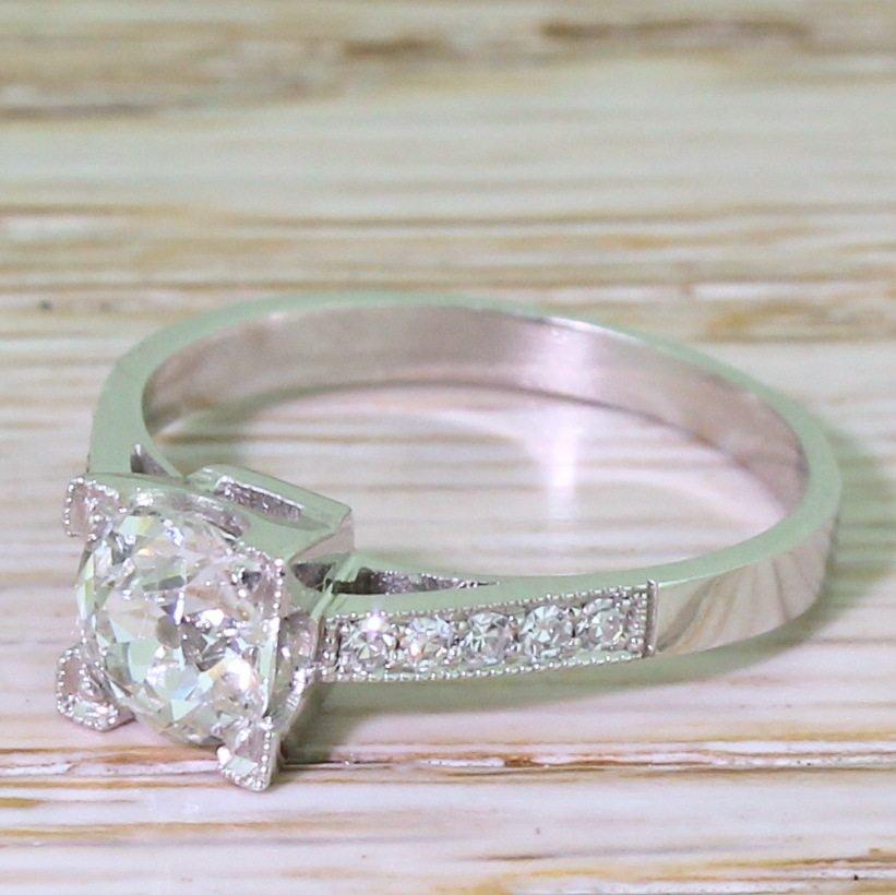 art deco 057 carat old cut diamond engagement ring circa 1935