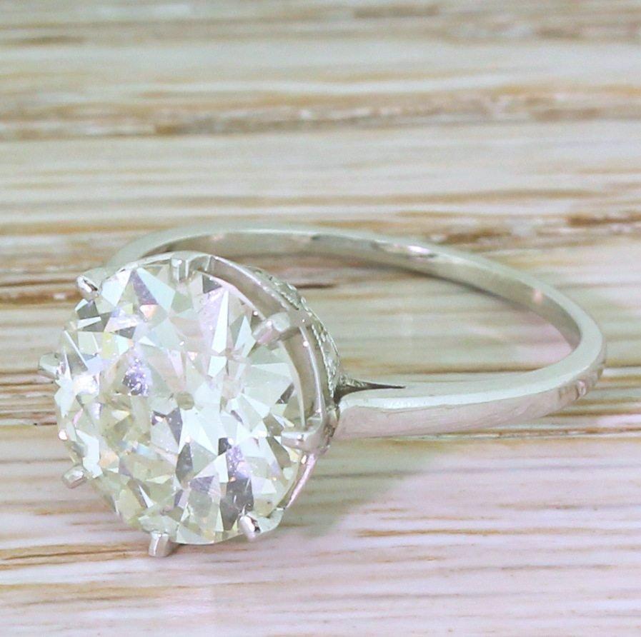 art deco 445 carat old european cut diamond engagement ring circa 1940
