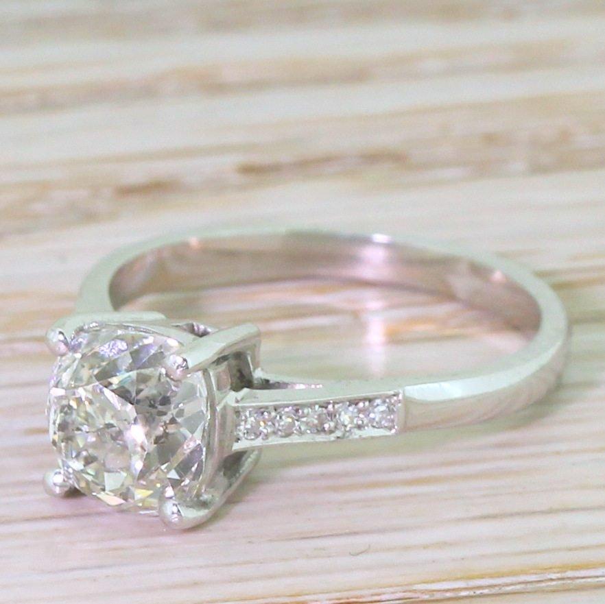 art deco 175 carat old cut diamond engagement ring circa 1935