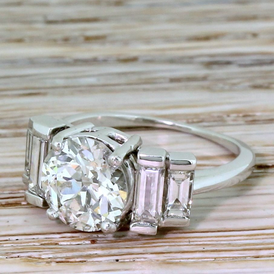 art deco 235 carat old cut diamond engagement ring circa 1935