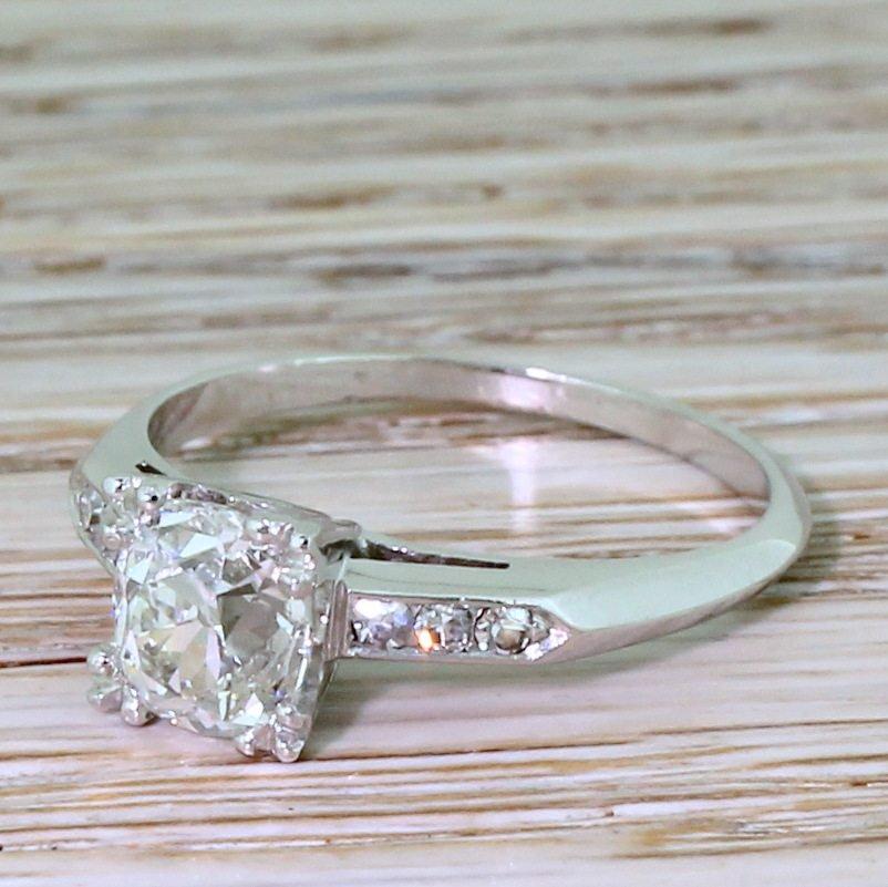 art deco 120 carat old cut diamond engagement ring french circa 1930