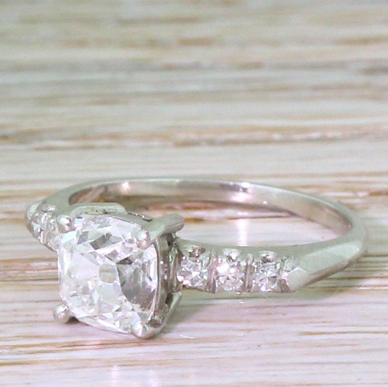 art deco 151 carat old cut diamond engagement ring circa 1915