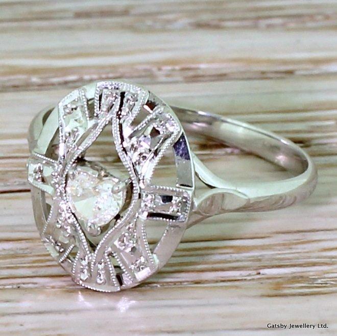 late 20th century 015 carat heart cut diamond ring french circa 1975