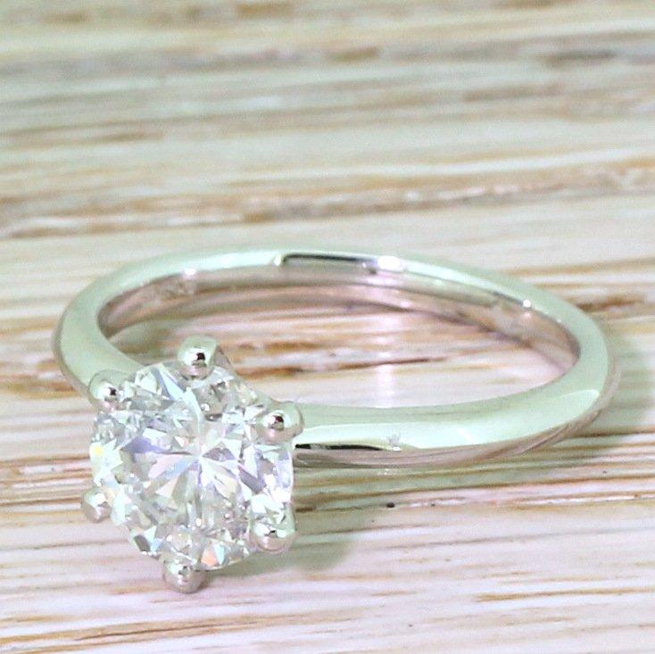 148 carat transitional cut diamond engagement ring platinum
