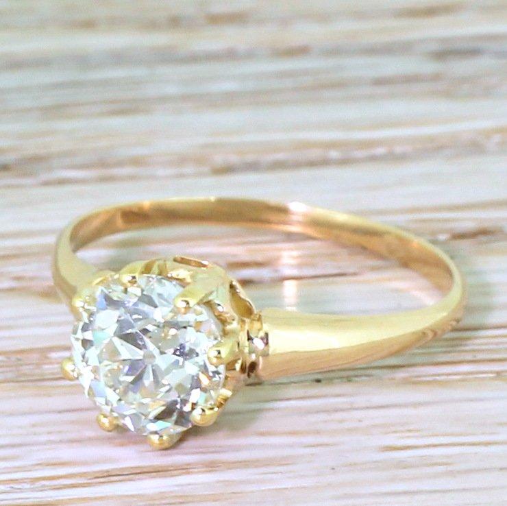 art deco 195 carat old cut diamond engagement ring circa 1915