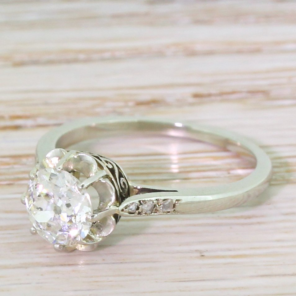 art deco 110 carat old cut diamond engagement ring french circa 1925