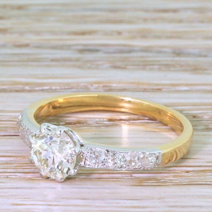 edwardian 099 carat old cut diamond engagement ring circa 1905