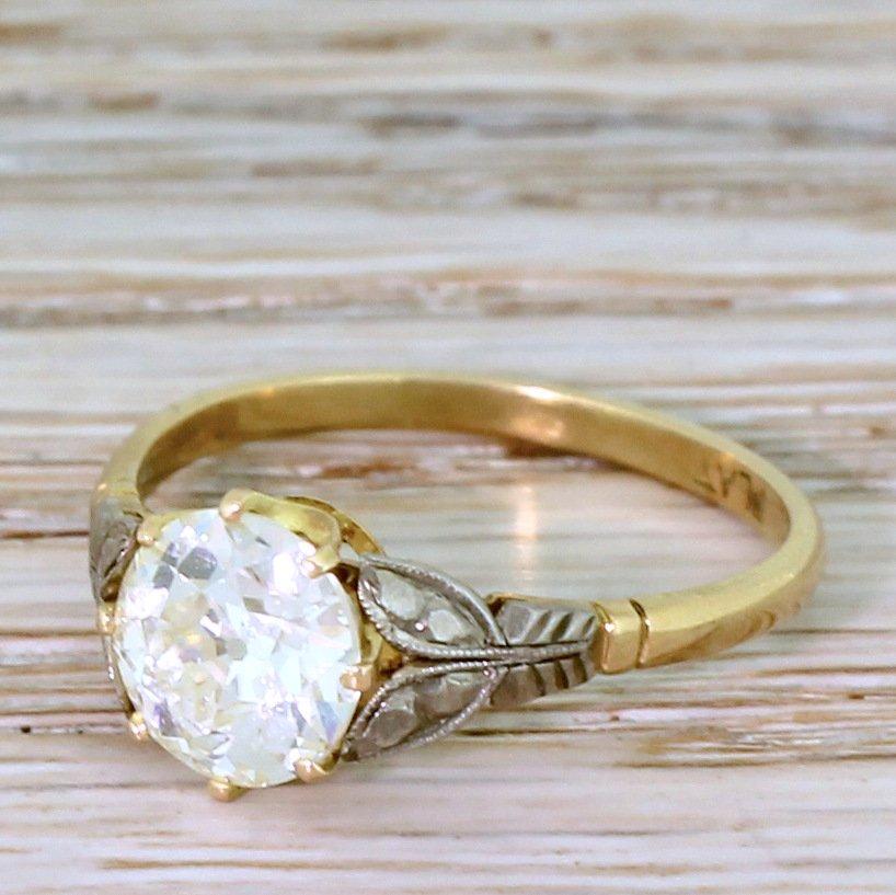 art deco 157 carat old european cut diamond engagement ring circa 1925