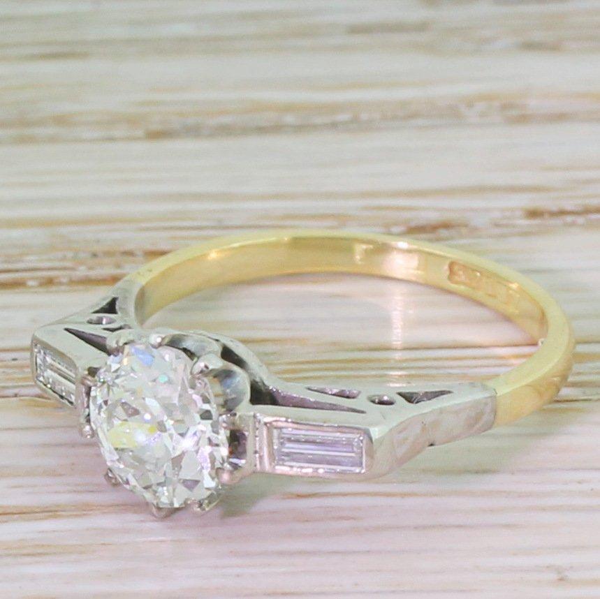 art deco 117 carat old cut diamond engagement ring circa 1925