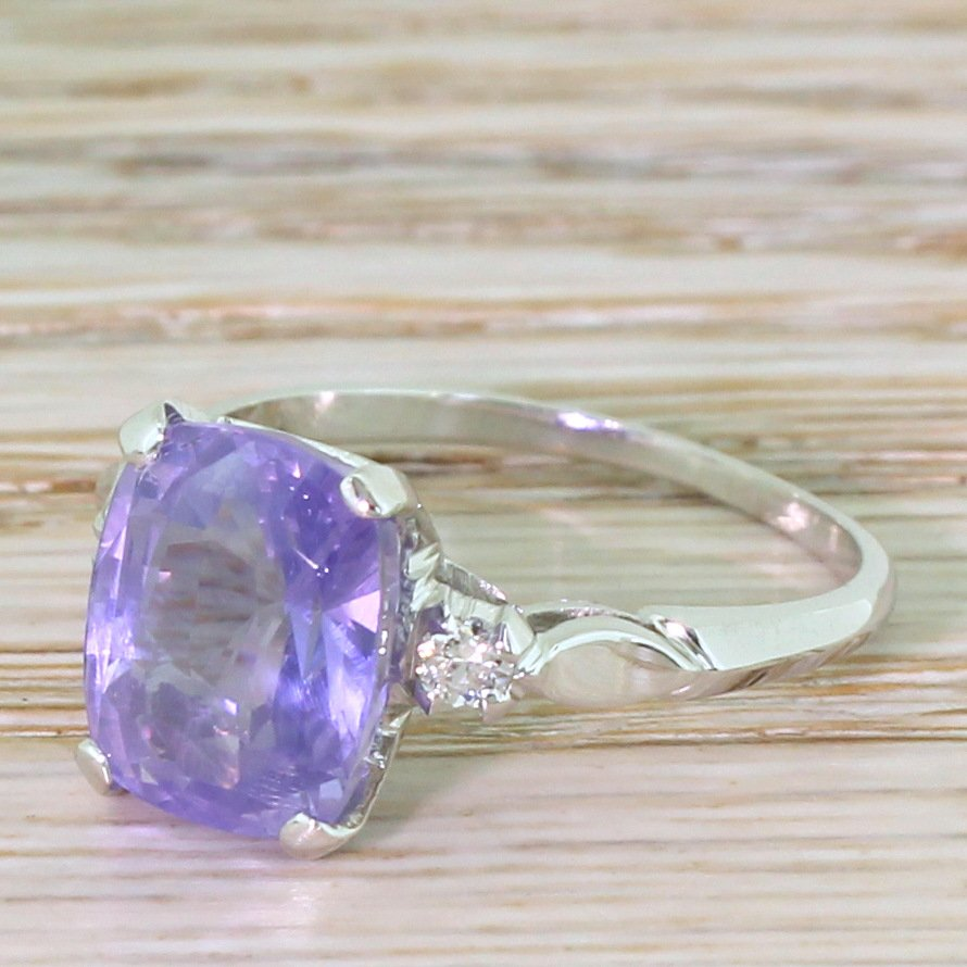 mid century natural colour change sapphire solitaire ring circa 1950
