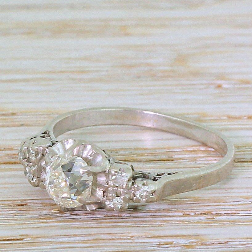 art deco 106 carat old cut diamond engagement ring circa 1935