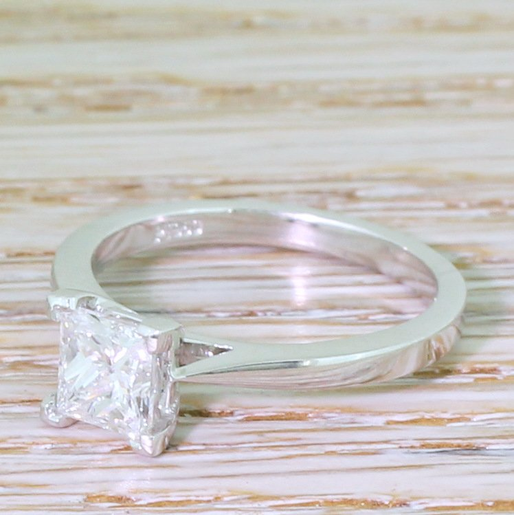 100 carat princess cut diamond solitaire engagement ring platinum