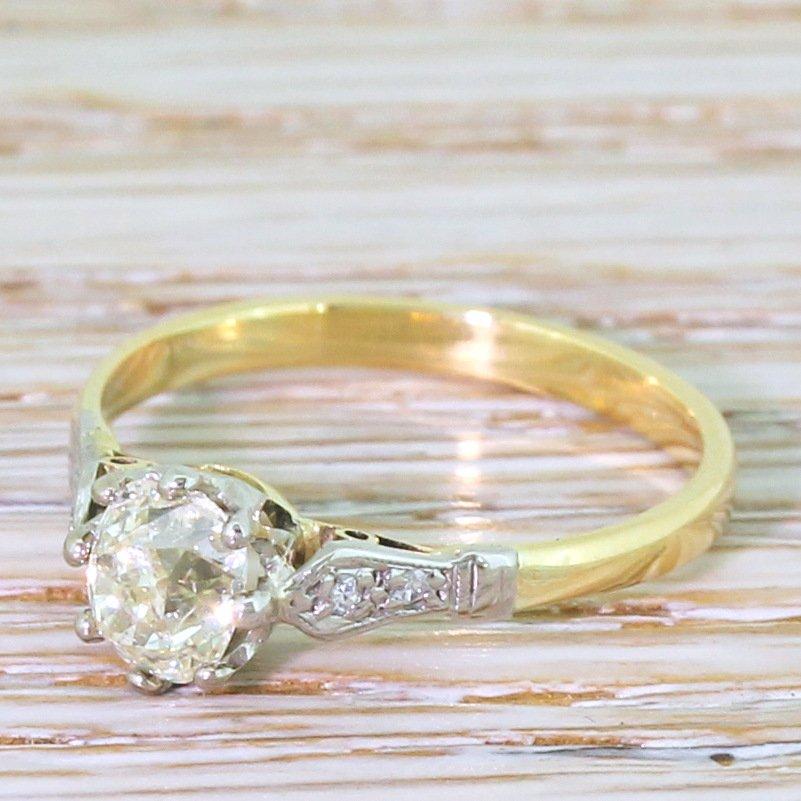 art deco 066 carat old cut diamond engagement ring circa 1935