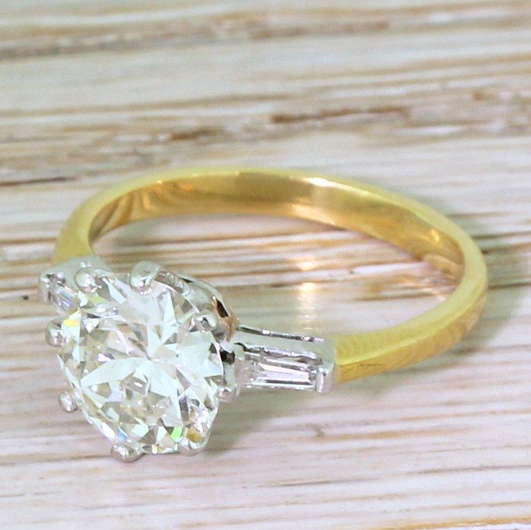 art deco 217 carat old european cut diamond engagement ring circa 1930