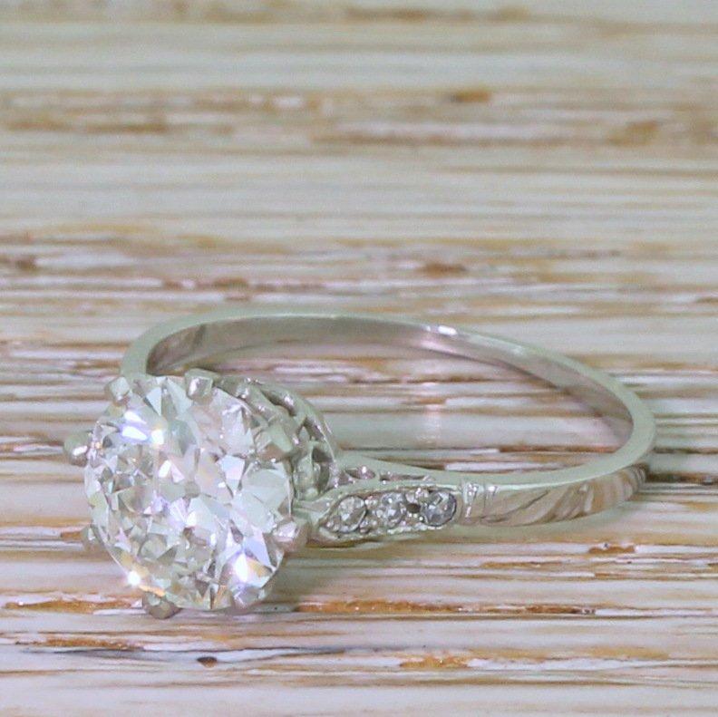 art deco 153 carat old cut diamond engagement ring circa 1925