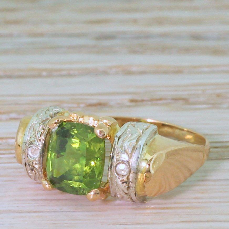 art nouveau 197 carat demantoid garnet solitaire ring circa 1905