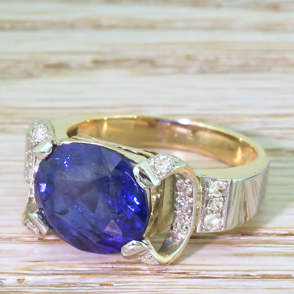 retro 812 carat sapphire ring circa 1955