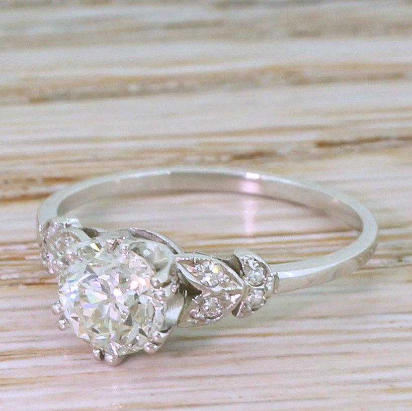 art deco 101 carat old cut diamond engagement ring circa 1915