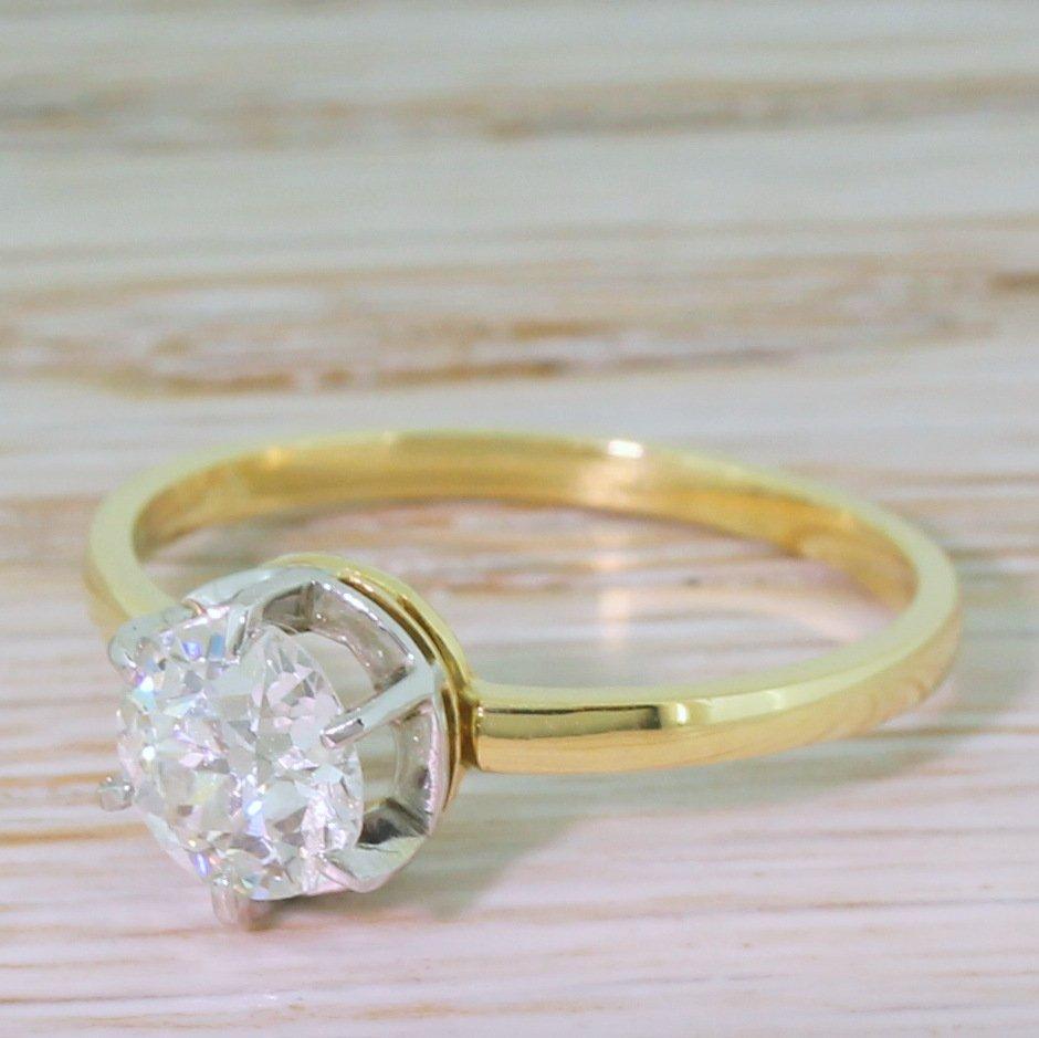 Art Deco 0.80 Carat Old Cut Diamond Engagement Ring, circa 1920 , Gatsby  Jewellery